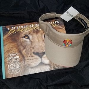 San Diego Zoo book and hat NWT